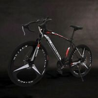 "26""Folding Mountain/Race Bike 21Speed Bicycle Full Suspension Double Disc Brake"