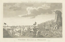 Grigion after Wale - 18th Century Engraving, Winter Amusement in Holland