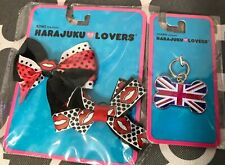 New Harajuku Lovers For Dogs Cute Bows And Bone Tag