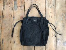 Burberry Buckleigh black nylon tote bag leather trim lightweight shopper unisex