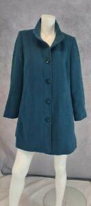 Eastex Wool Coat Size 12 With Cashmere Aqua green Blue