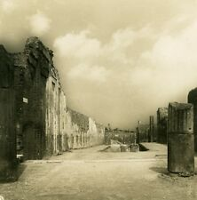Italy Pompeii Abundance Avenue Via Abbondanza Old NPG Stereo Photo 1900