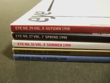 1998-1999 EYE MAGAZINE LOT OF 5 ISSUES - GREAT COVERS & PHOTOS - PB 505