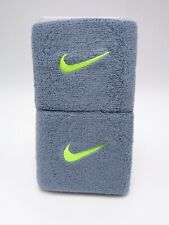 """Nike Swoosh Wristbands Dove Grey/Volt 3"""" Men's Women's"""