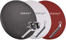 Spiegel-Set mit DUR-line Select 75/80 ALU Sat Spiegel + QUAD-LNB /in 3 Farben