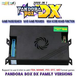 3A Pandora Box DX 3000 IN 1 3/4P Arcade PCB Game Board Family Version High Score