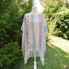 Poncho Femme Grande Taille 44 46 48 50 52  voile Beige rose VERONE ZAZA2CATS new