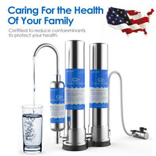 Countertop Stainless Steel Drinking Water Purifier CTO T33 Ceramic Filter System