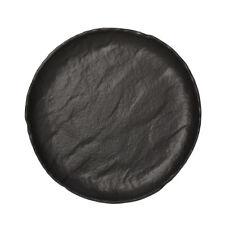 PIATTO piano GOURMET CM.26 in porcellana nera Saturnia Vulcania