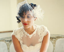 Wedding Headpiece and Veil Bridal Hair Clip,Bridal Veil, Bridal Fascinator NEW
