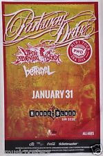 PARKWAY DRIVE /UPON A BURNING BODY 2014 SAN DIEGO CONCERT TOUR POSTER - Metacore