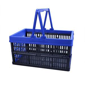 Einkaufskorb 16L mit Henkel klappbar Kiste Einkaufskiste Einkaufsbox Klappbox