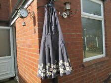 Boden Pewter Halterneck 50s Dress Size 16L Floral-WH465