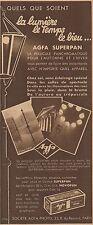 Y8621 Pellicule photo AGFA Superpan - Pubblicità d'epoca - 1933 Old advertising