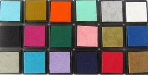 Crafty Koala Small Pigment Ink Pads Acid Free Non Toxic 24 Colours to Choose
