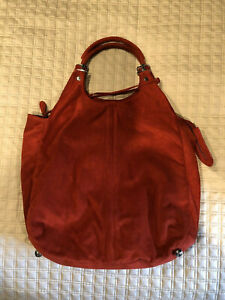 Balenciaga Paris Red Suede Hobo/Satchel Handbag -WOW!