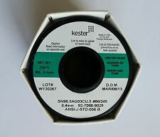 KESTER, 245/66, No Clean Flux Solder, 0.015in, 0.55lb, Sn96.5%,Cu0.5%,Ag3%, USA