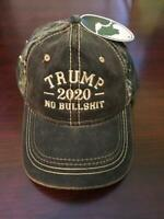 Donald Trump 2020 Mossy Oak Authentic NO BS Hat 2020 Election Cap Donald Trump
