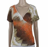 Class By Roberto Cavalli Taglia 48 Maglietta T-Shirt Blusa Donna Maniche Cort...