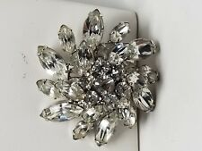 Lovely Rhinestone Pin Navettes Rounds Vintage Pin