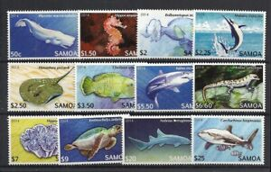 Samoa 2014  #1167-78, Cpl Set / Mint Never Hinged: SCV $73.20