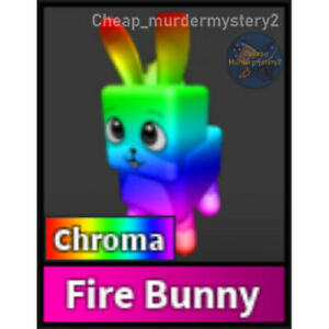 Murder Mystery 2 MM2 Chroma Fire Bunny Roblox *FAST DELIVERY* Read Description