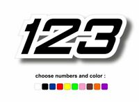 Custom sticker race numbers vinyl dirt motorcycle motocross number r2