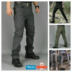 Men Trousers Waterproof Hiking Trekking Tactical Pants Outdoor Fishing Combat