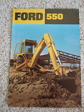 Ford 550 Tractor Backhoe/Loader Color Brochure, 12 pg, '75 original, MINT