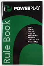 POWER PLAY Pool Snooker Billiard Eight Ball Devils Pool Table RULE BOOK