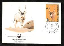 NIGER # 688-691  ADDAX, ORYX. World Wildlife Fund.  First Day Covers