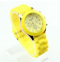 Unisex Geneva Silicone Jelly Gel Quartz Analog Sports Wrist Watch/ U.S SELLER!