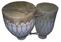 Moroccan Drum Tom-Tom Tabla Darbuka Doumbek Tombak Bongo Set Handmade Clay XL