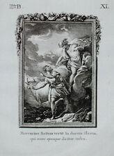 c1790 Ovid Metamorphoses Mercury Merkur and Battus Original-Kupferstich