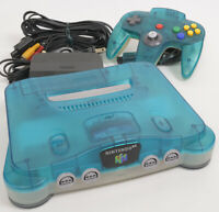 """Nintendo 64 Clear Blue Console System NUS-001 Tested NUJ15440410 """"NTSC-J"""""""