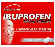 16 GALPHARM IBUPROFEN 200MG TABLETS - PAIN RELIEF - MIGRAINE - FAST DISPATCH