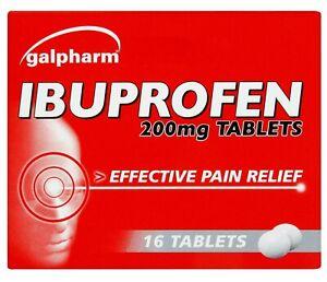 16 GALPHARM IBUPR0FEN 200MG TABLETS - PAIN RELIEF - MIGRAINE - FAST DISPATCH