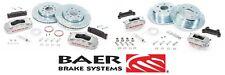 BAER Brake System Front & Rear Kit - Silver / Red for 2007-2018 Jeep Wrangler JK