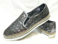 Jimmy Choo Dawn Still Metallic Leather Sneakers, 37.5