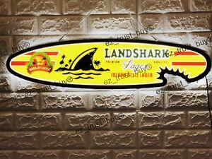 "New Landshark Lager Fin Beer 3D LED Neon Sign 32"""
