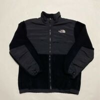 The North Face Polartec Womens Jacket Coat Black Zip Up Pockets Mock Neck L