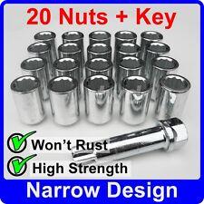 20 x SLIM THIN NARROW TUNER NUTS M12x1.5 BK OZ TSW AEZ FOX ALLOY WHEELS [TN5]