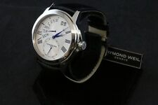 Raymond Weil Tradition Silver Dial Black Leather Men's Watch 9579-STC-65001