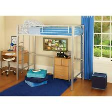 Your Zone Twin Metal Loft Bed, Multiple Colors