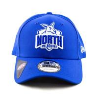 North Melbourne Kangaroos New Era Cap AFL 9Forty Curved Brim Hat In Blue