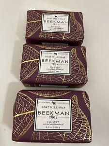 Beekman 1802 Fig Leaf Goat Milk Bar Soap 9 oz 3 Piece  Brand New Sealed