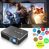 6000Lumens Android Wifi BT Vidéo Projecteur 1080p LED Maison Théâtre Miracast FR