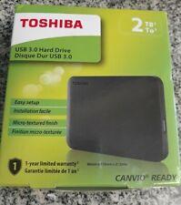Toshiba Canvio Ready 2TB Portable External USB 3.0 Hard Drive - Black