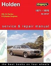 Holden HQ & HJ V8 Model Workshop Repair Manual From 1971-1976 with MPN GAP04147