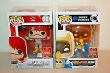 Lot of 2 Funko POP Exclusive Figures 2018 WWE ASUKA & 2017 INTERPLANETARY BATMAN